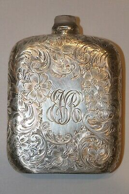 Antique Sterling Silver Liquor Flask Early 1900's