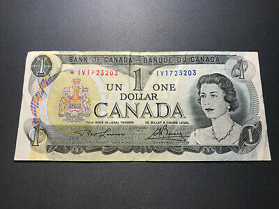 1973 Bank of Canada $1 Replacement Note -  Old Bill Nice Shape! *IV 1723203