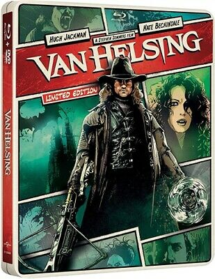 VAN HELSING New Sealed Blu-ray + DVD Steelbook Huge Jackman