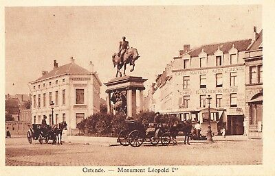 OSTENDE    MONUMENT  LEOPOLD Ier    CARTE POSTALE ANCIENNE