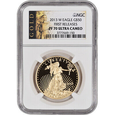 2013-W American Gold Eagle Proof (1 oz) $50 - NGC PF70 UCAM - First Releases