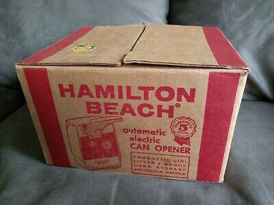 VINTAGE 1960-70's HAMILTON BEACH AUTOMATIC ELECTRIC CAN OPENER MOD 238 RARE WOW!