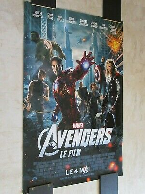* THE AVENGERS [2012] FRENCH VERSION * D/S 27x40 [ORIGINAL] MOVIE THEATER POSTER