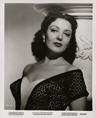 Linda Darnell ~ ORIGINAL 1951 glamour portrait... The Lady Pays Off