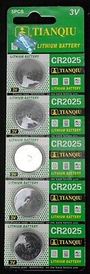 5 Tianqiu CR2025 BR2025 KCR2025 5003LC LM2025 3 Volt Lithium Button Cell Battery