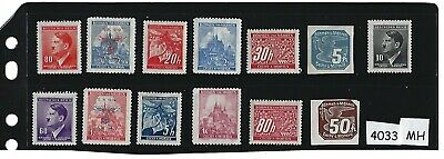 Small MH stamp set / Adolph Hitler / Swastika / Third Reich WWII Occupation BaM