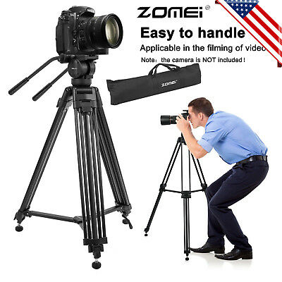 ZOMEI VT666Aluminum Camcorder Tripod stand with Fluid Head For Video Cameraead