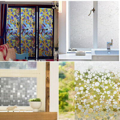 Removable Privacy Static Frosted Home Glass Window Film Sticker Decor 100*45cm