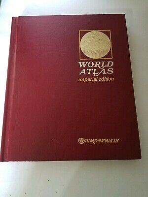 ANTIQUE RAND MCNALLY Imperial Atlas of The World 1917