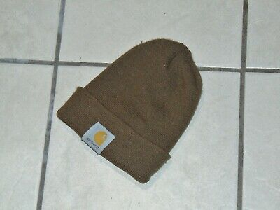 CARHARTT Beanie Sock Acrylic Knit Cap Hat Men's one size fits all (brown)