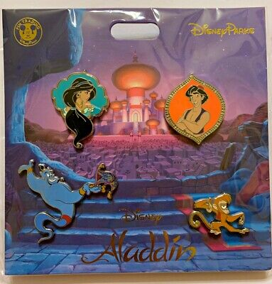 Disney Parks 4 pin set ALADDIN - booster pack - Sealed NEW