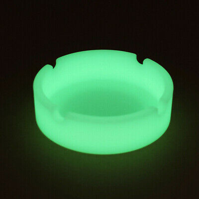 Glow In The Dark Silicone Ashtray Shatterproof Cigarette Butt Cigar Pipe Holder