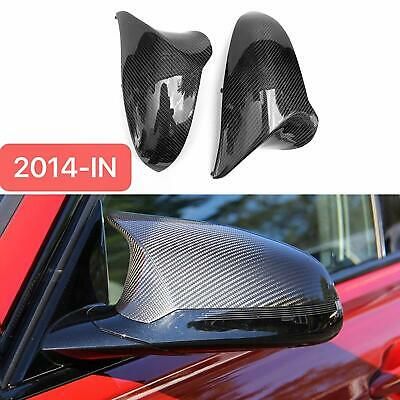 Genuine Carbon Fibre Side Wing Mirror Covers Bmw F80 F82 F83 M3 Saloon M4 Coupe