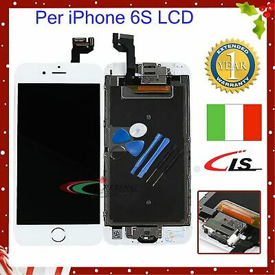 Touch Screen PER iPhone 6S LCD DISPLAY COMPLETO Fotocamera Altoparlante BIANCO