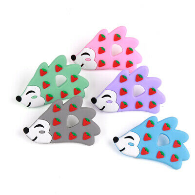 Hedgehog Infant Baby Teether Silicone Soother Chewable Teething Toy BPA-free