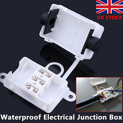 3 Pin IP44 Waterproof Electrical Cable Wire Connector Junction Box 10A 250V