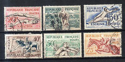 TIMBRES OBLITERES france lot s 49 N°960 A 965