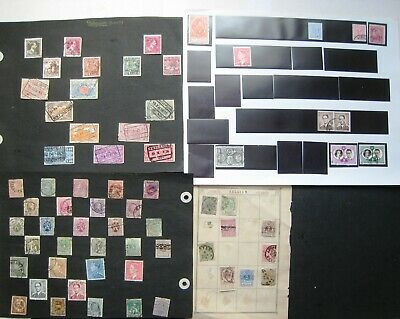Unchecked Selection Of Early Belgium Stamps.  Lot#643