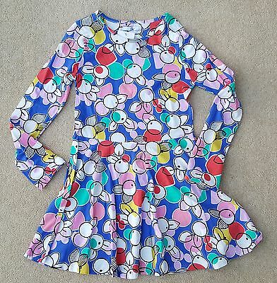 MARKS & SPENCER Girls Abstract Multicoloured Long Sleeve Dress 13-14 Years