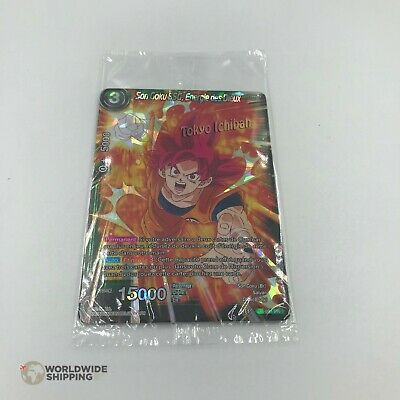 Carte Dragon Ball Super Card Game Son Goku SSG Energie dieux P 094 PR PROMO BT6