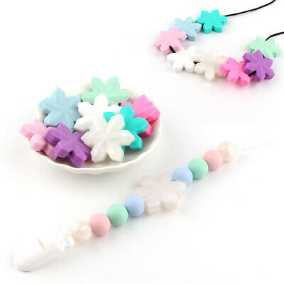 Snowflake Silicone Baby Teether Chew Pacifier Soother Kids Teething Toy Gift