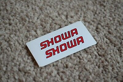 Showa Racing Rally Motorsport Race Car Decal Stickers Badge Logo Red Black 50mm