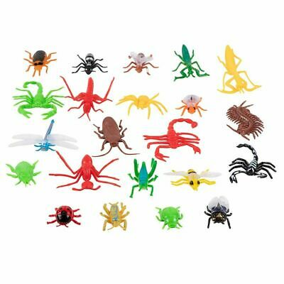 22-Pack Assorted Plastic Bug Toys Insect Figures Fake Spider Cockroach for Kids