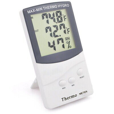 Pro Digital LCD Humidity Hygrometer Temperature Thermometer Home Office Test New