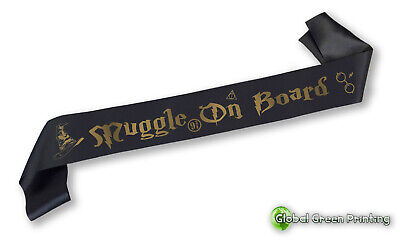 Harry Potter Baby Shower Sash Muggle On Board - Various Colours