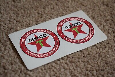 Texaco Vehicle Oil Gas Petrol Retro Logo Racing Garage Decal Stickers 50mm