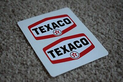 Texaco Vehicle Oil Gas Petrol Retro Racing Garage Decal Stickers Red White 50mm