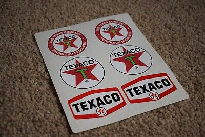 Texaco Vehicle Oil Gas Petrol Retro Logo Racing Garage Decal Stickers Mixed 50mm