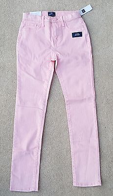 GAP Girls Peach 12 Years 98% Cotton High Waist Skinny Jeans Trousers