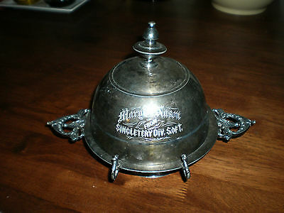 Nice Antique Wilcox Silver Plate Co. Silverplate Cheese Dome Butter Dish Trophy