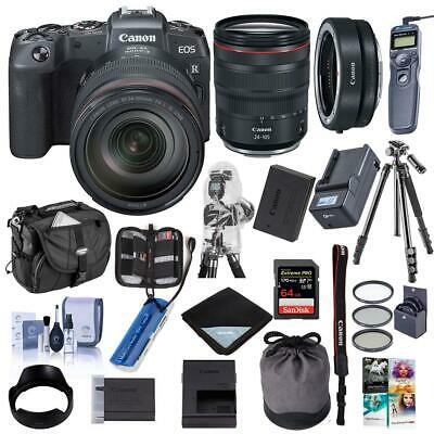 Canon EOS RP Mirrorless Digtl Camera with RF 24-105mm F4 L IS Lens W/Premium KIT