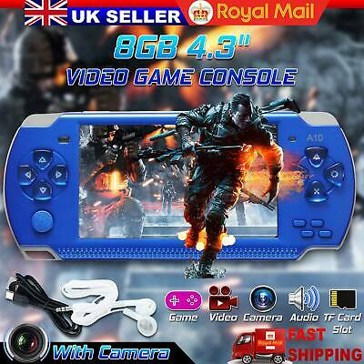 "32 Bit 4.3"" PSP Portable Handheld Game 8GB Console Player 10000+Games +Camera UK"