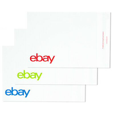 "NEW EDITION eBay-Branded Polymailer Red Green & Blue 12"" x 15"" (No Padding)"