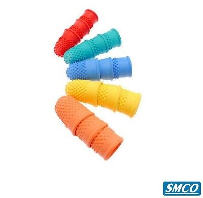 10 THIMBLETTES Quality Rubber Thimble FINGER TIP PROTECTION Grip Aid SIZE CHOICE