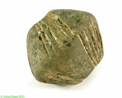 Clay Spindle Whorl Bead Mali African Big SALE WAS $49.00