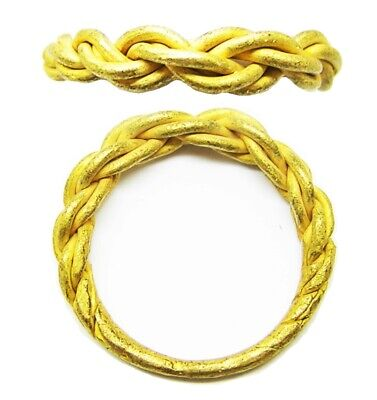 10th - 11th century AD Scandinavian Viking gold braided finger ring size 9 3/4