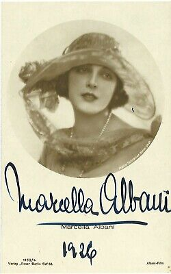 MARCELLA ALBANI 1926 German Silent Film Postcard SIGNED BY MARCELLA ALBANI #2