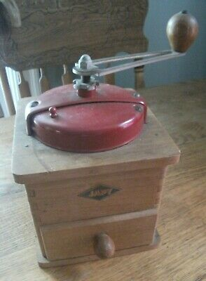ANTIQUE French COFFEE GRINDER MILL Sign JAPY FRERES & Cie BEAUCOURT PARIS 1920's