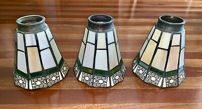 Arts & Crafts Style Stained Glass Light Shade Ceiling Fan Chandelier Wall Sconce