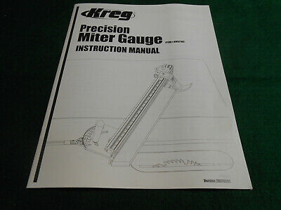 KREG PRECISION MITER GAUGE No. KMS7102 INSTRUCTION Owner's/Assembly MANUAL