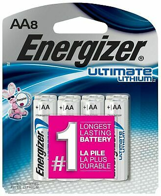 16 Energizer Ultimate Lithium - Size AA - 2 x (8-packs) = 16 Total Batteries!