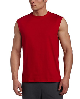 NWT Men's Russell Athletic 4X  Cotton Crew Neck Muscle  Tee Shirt  Red