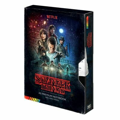 Stranger Things VHS Style Premium A5 Hardback Notebook Journal Exercise Book
