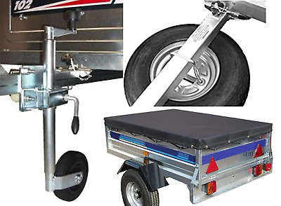 Accessory kit for Trailer Erde 122 and Daxara 127, includes Spare wheel, jockey