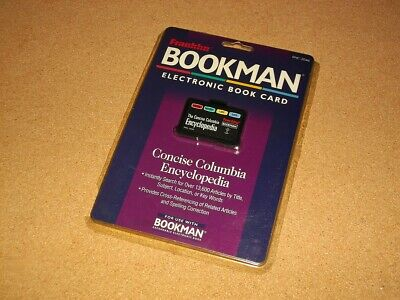 Franklin Bookman Bookcard - Concise Columbia Encyclopedia - Enc-2046 - Sealed