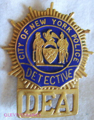 IN13282 - Obsolete New York City Police DEA Detective Badge